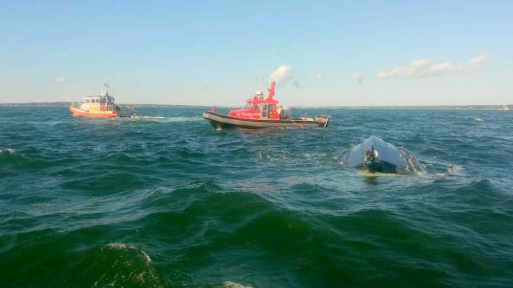 Cape Cod: 12 People Rescued from Overturned Boat Near Buzzards Bay