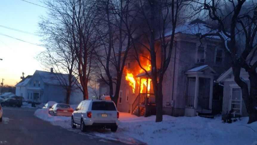 Fire in Lowell, Mass.