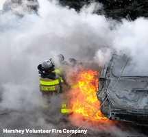 Hershey car fire