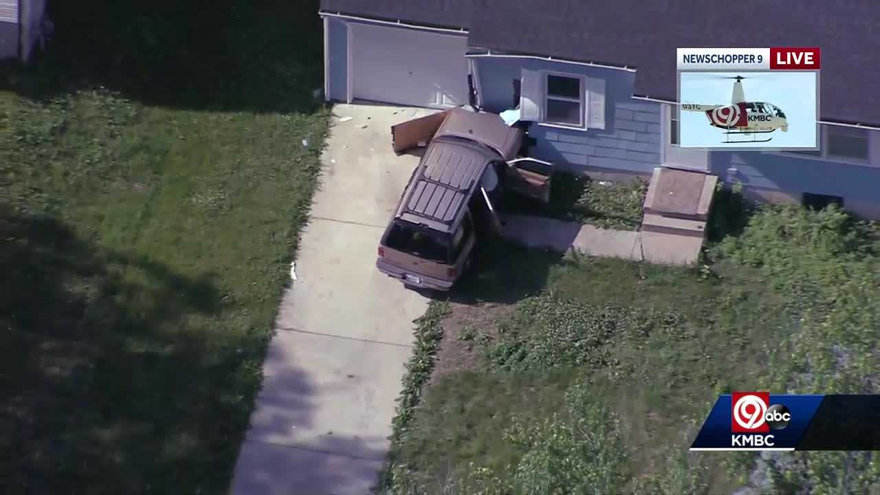 Car into house, homicide Kansas City 44th and Elmwood