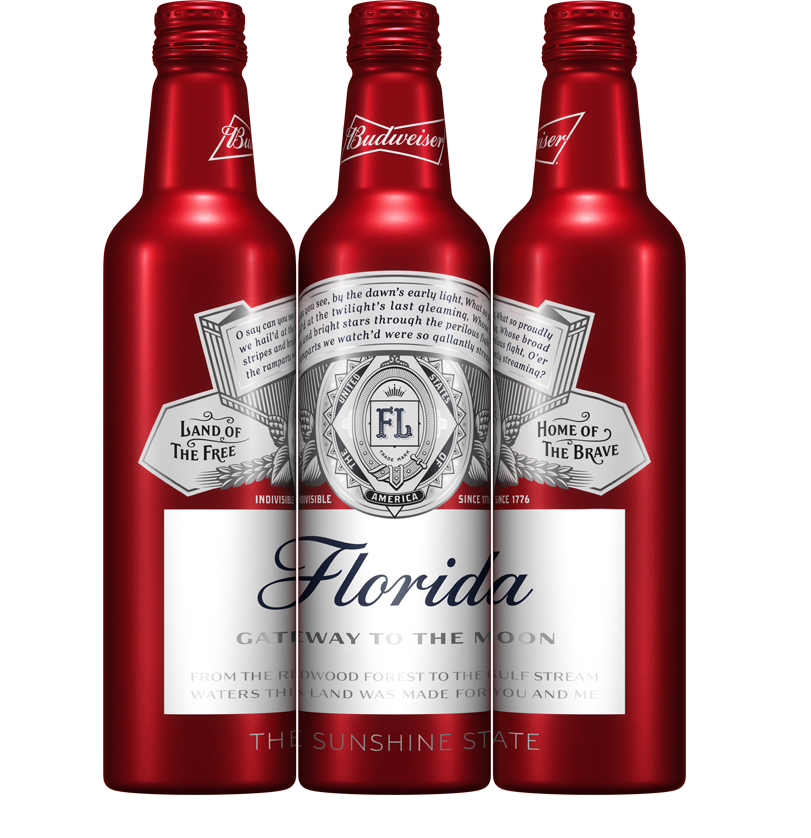 Special Budweiser packaging will celebrate Florida