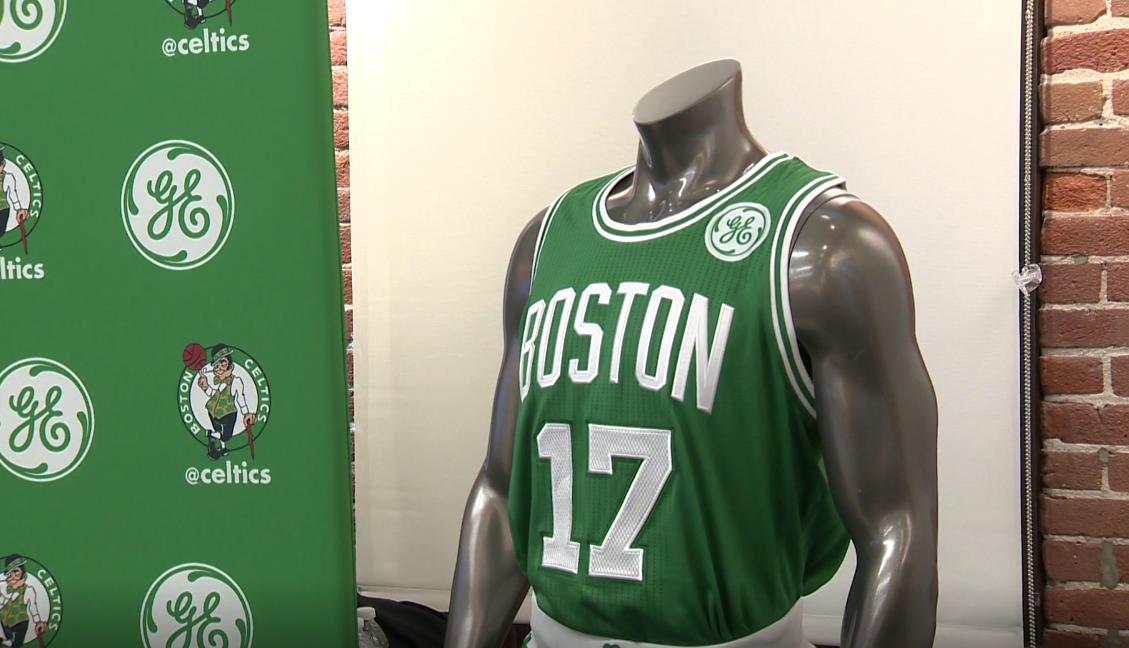 bf3c4a3bfb7 Boston Celtics unveil next seasons uniforms with GE logo ...