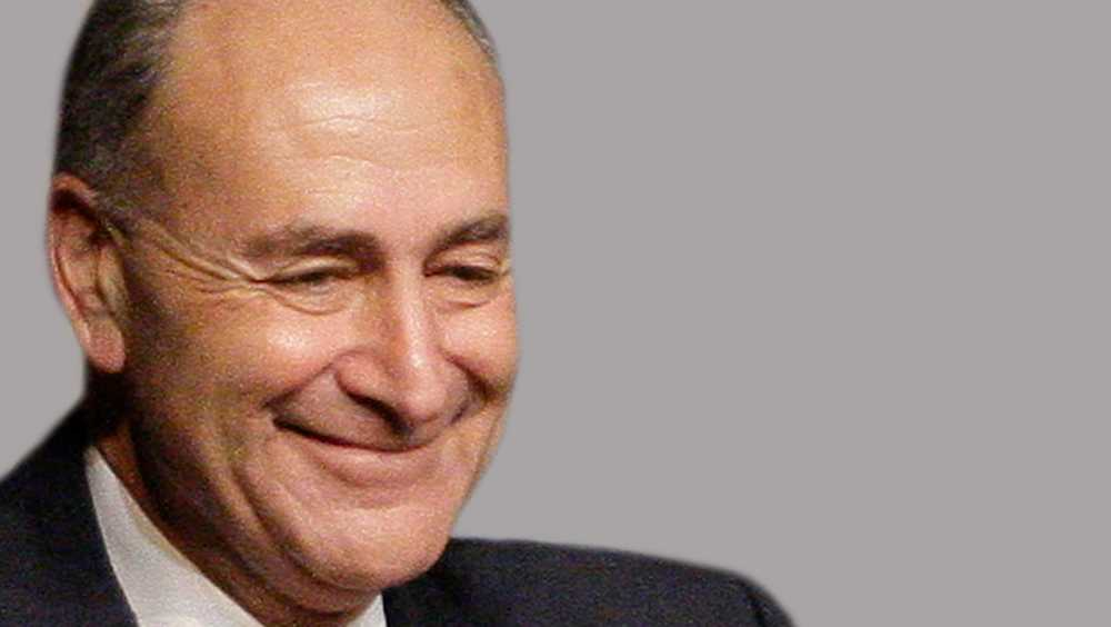 In this May 17, 2012 file photo, Sen. Charles Schumer, D-N.Y. gestures during a news conference on Capitol Hill in Washington.