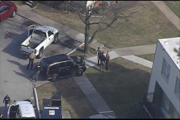 Authorities search for one person after police chase ends in