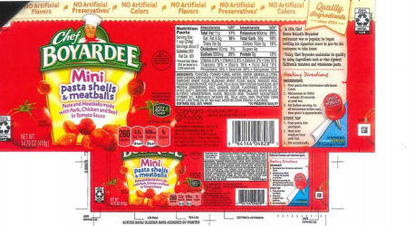 Conagra recalls 700000 pounds of Chef Boyardee pasta, other products