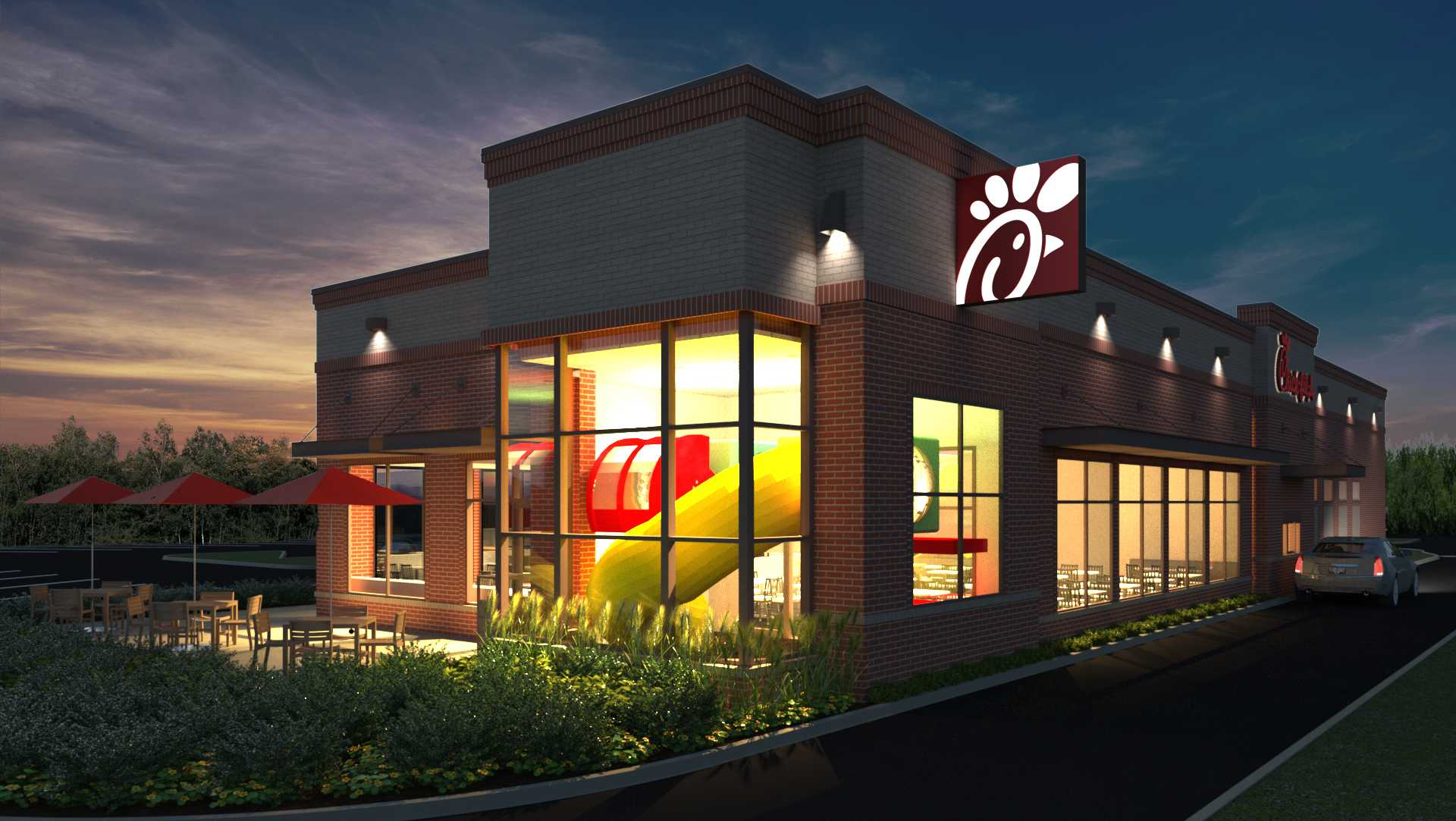 Westbrook Chick-fil-A rendering