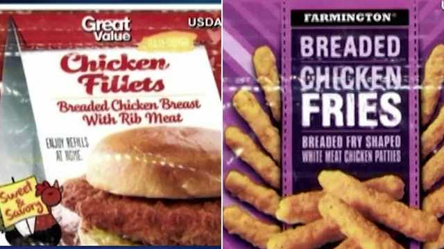 breaded chicken product recall