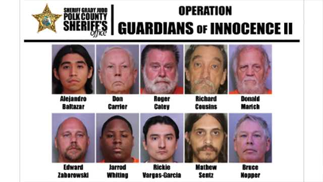 Child pornography investigation in Florida leads to 11 arrests
