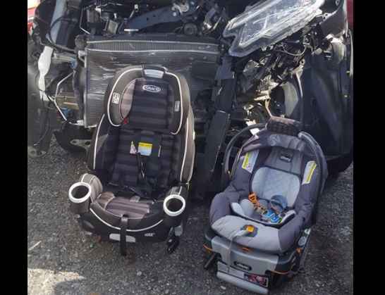 Mom's image of horrific vehicle accident shows the importance of auto seats