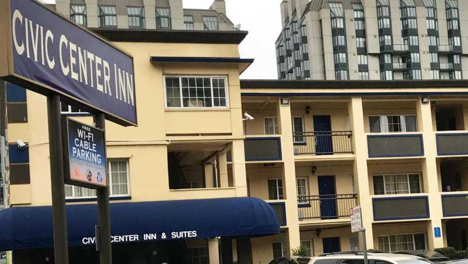 The Civic Center Inn in San Francisco, where police paid to put up a homeless mother and her 2-year-old daughter who couldn't find shelter.