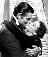 "Clark Gable and Vivien Leigh in ""Gone with the Wind."""