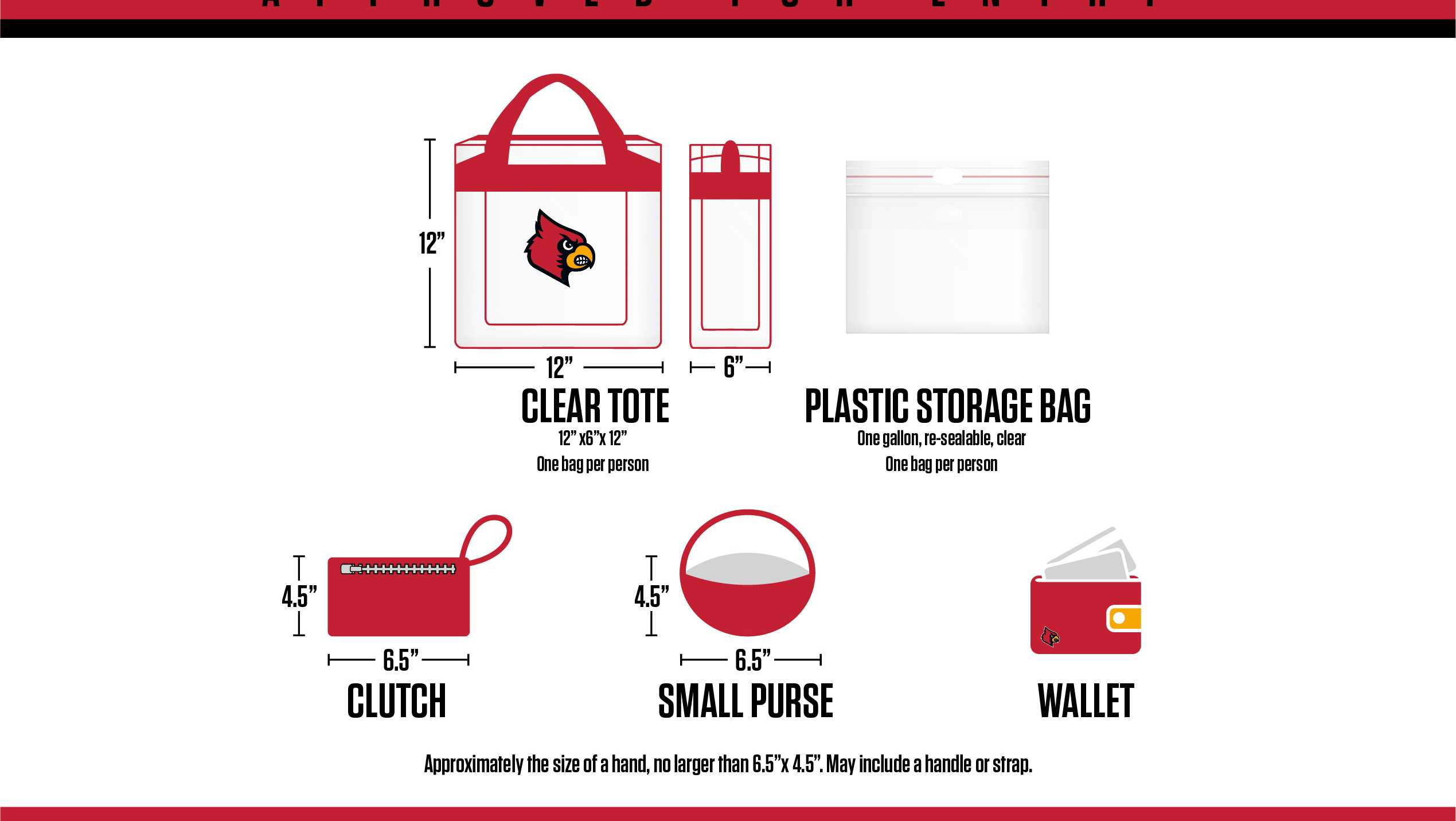 Louisville Athletics, clear bag policy