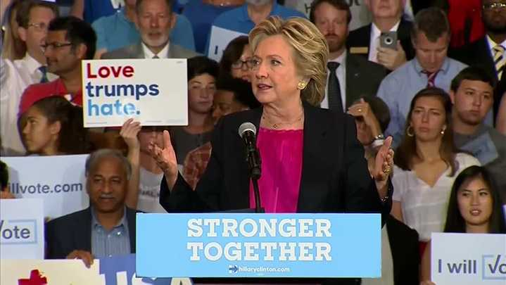 Hillary Clinton campaigns in Raleigh