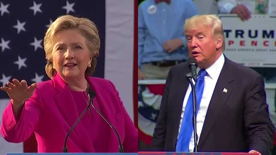 Hillary Clinton and Donald Trump campaigned simultaneously in North Carolina on Thursday.