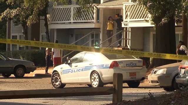 Police shot and killed a man at a Charlotte apartment complex.