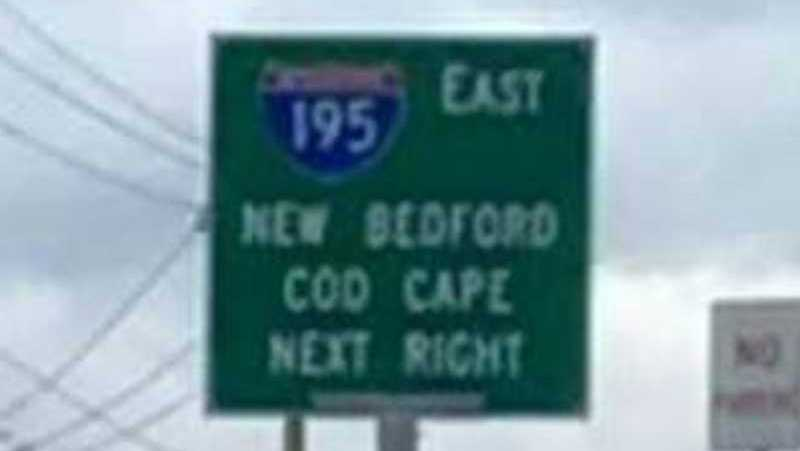 Cod Cape backward sign