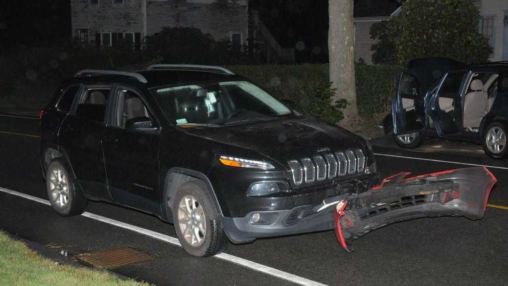 A Hingham man was charged with drunken driving and other charges after police said he drove up to officers with the bumper of another vehicle stuck to the front of his SUV early Saturday morning.