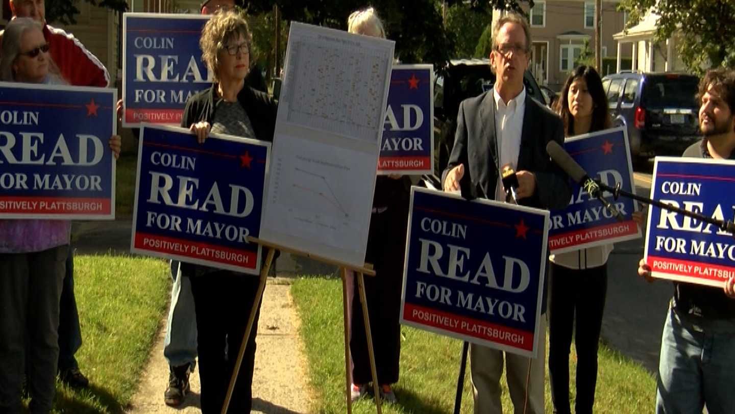 colin read, plattsburgh, mayoral, candidate, road, reconstruction, new york, ny