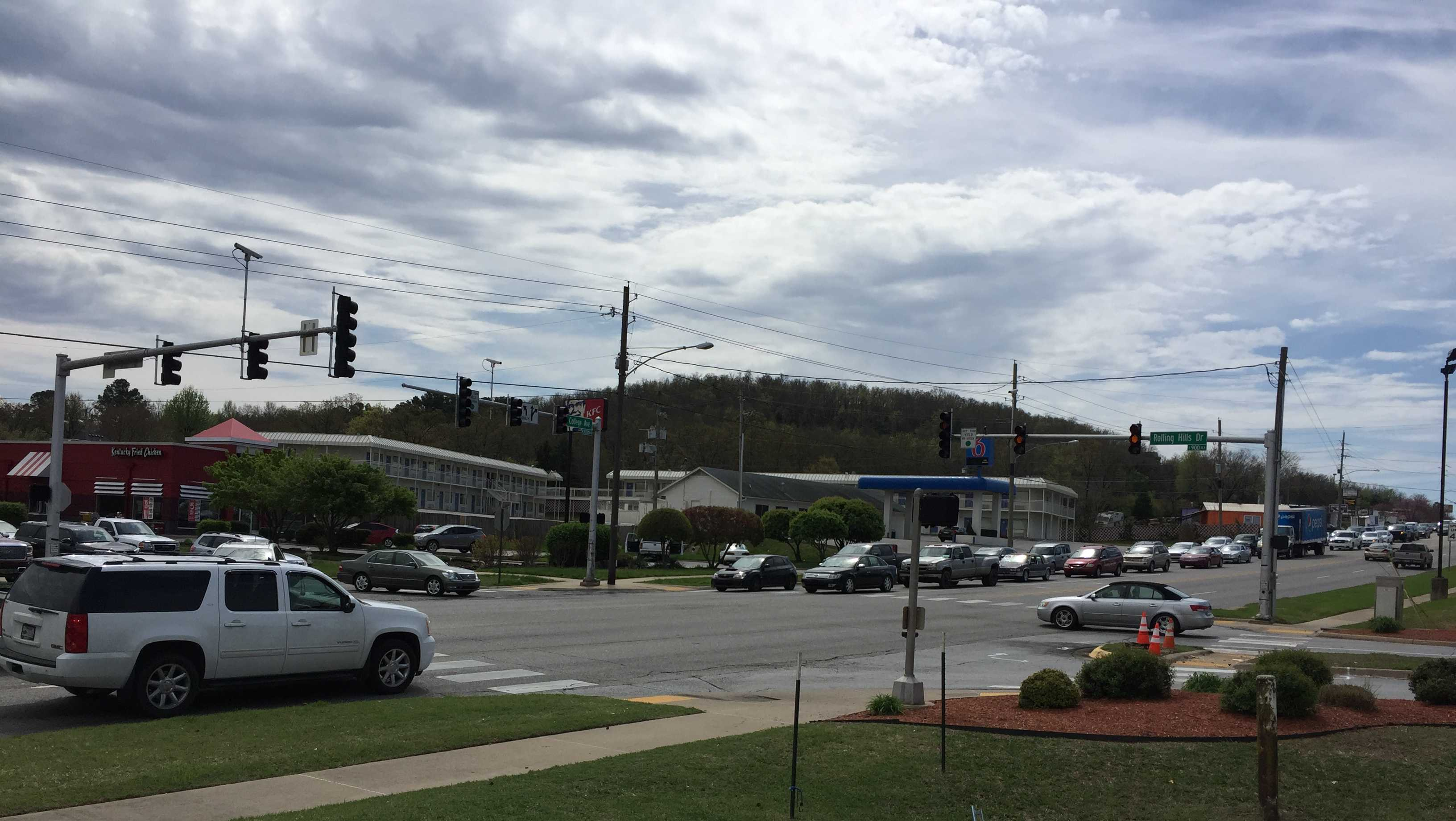 Intersection of College Ave. and Rolling Hills Dr.