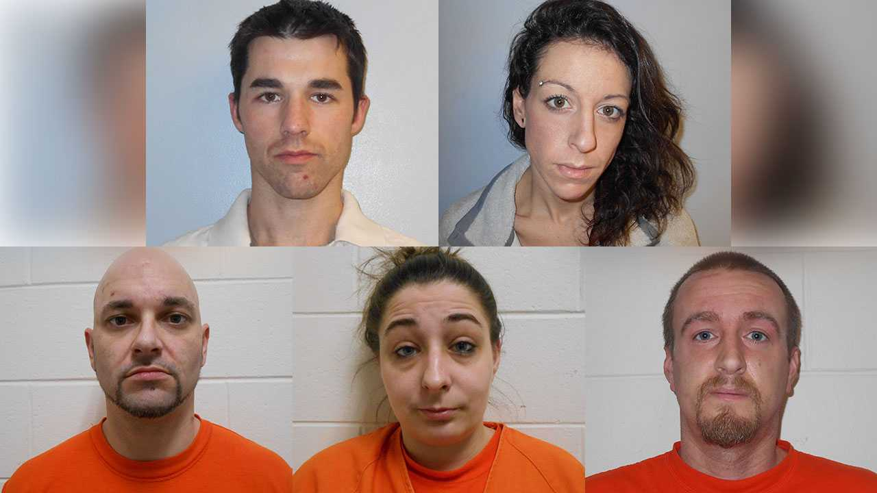 Derek Maltais, Jessica Houle, Christopher Lyford, Courtney Bennet, Drew Wentworth