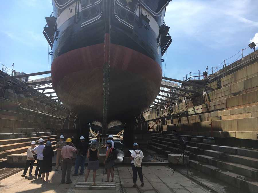39 Old Ironsides 39 Leaves Dry Dock For First Time In 2 Years