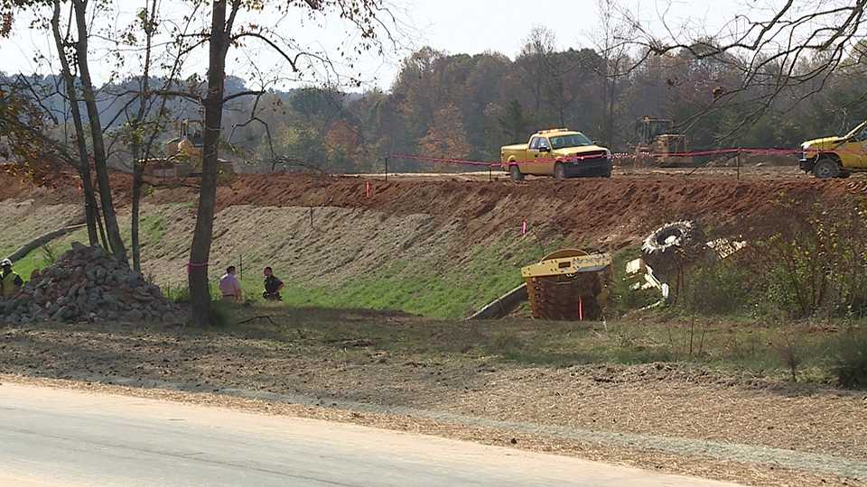 The dead worker was operating a piece of machinery that was found overturned, Kernersville police said.
