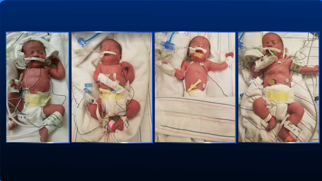 Nashua family welcomes quadruplets