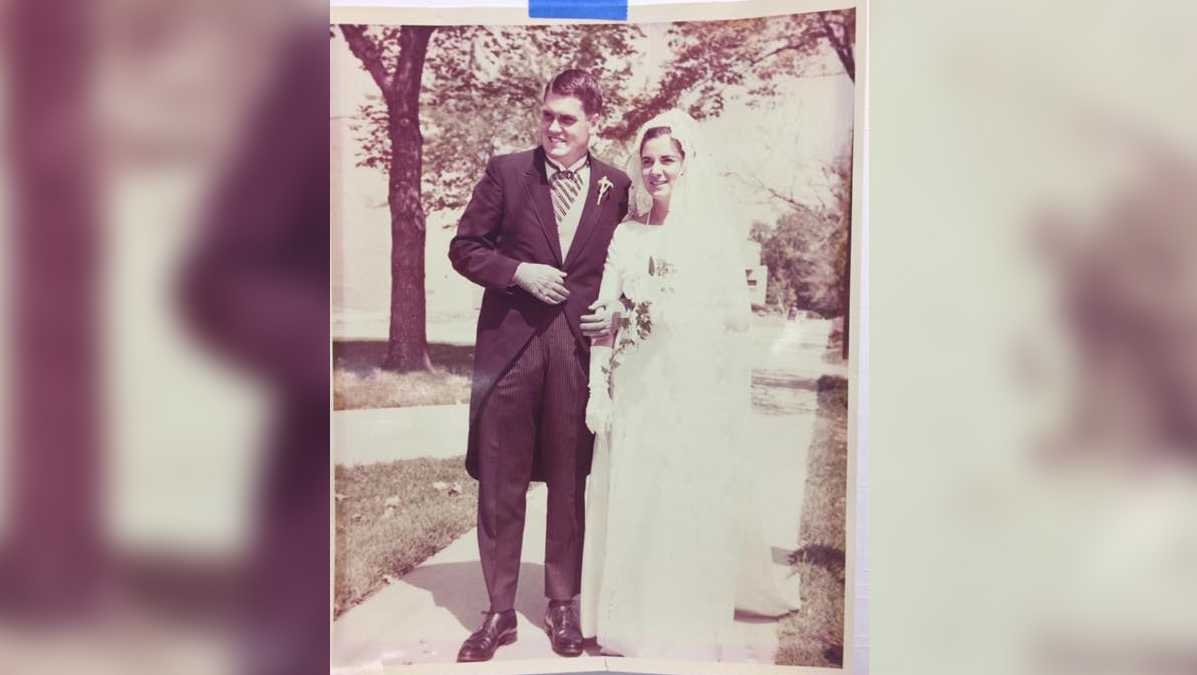 A Sacramento man hopes to return this wedding photo to the couple or the person it belongs to.