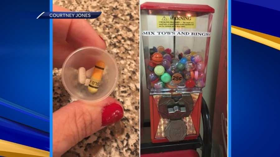 Drugs found in prize from vending machine