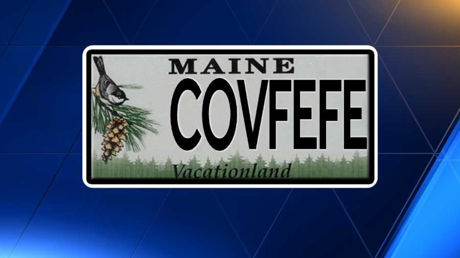 that didn 39 t take long maine driver snaps up 39 covfefe 39 license plate. Black Bedroom Furniture Sets. Home Design Ideas