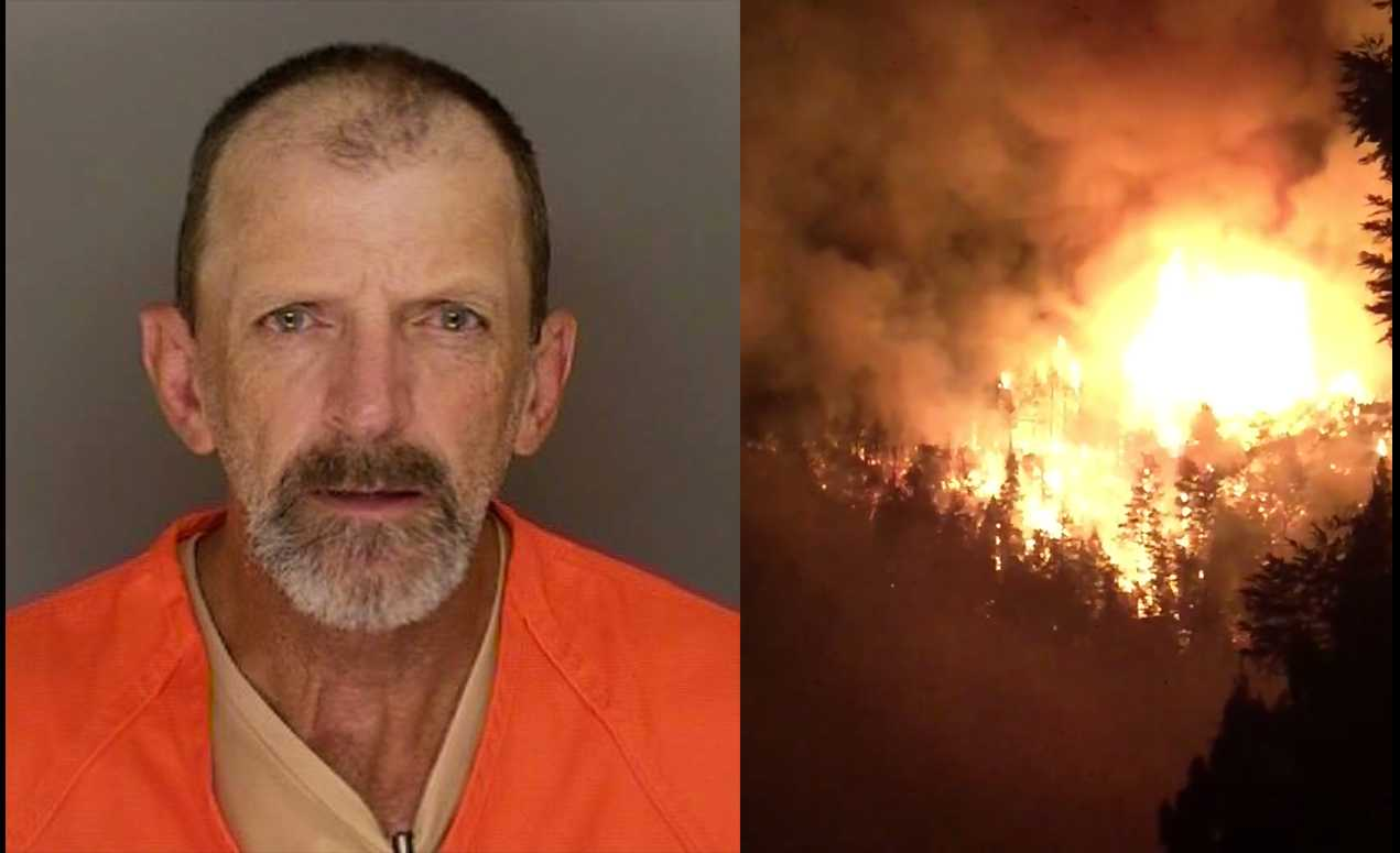 Man arrested for starting Bear Fire in Boulder Creek, looting home