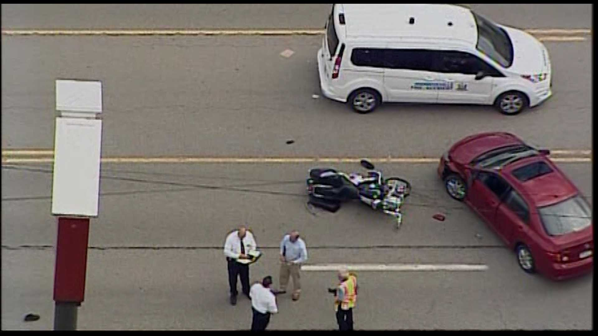 1 dead in car-motorcycle crash on Route 22 in Monroeville