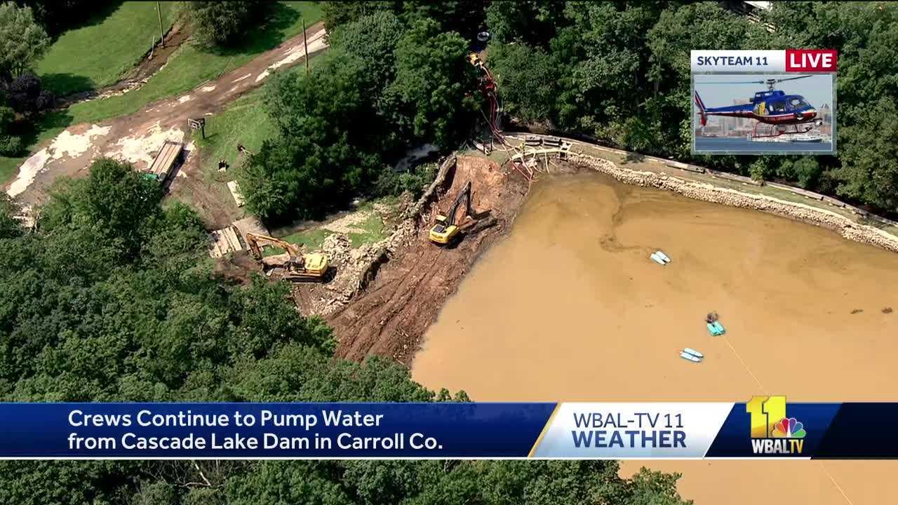 crews lower water level at Cascade Lake dam