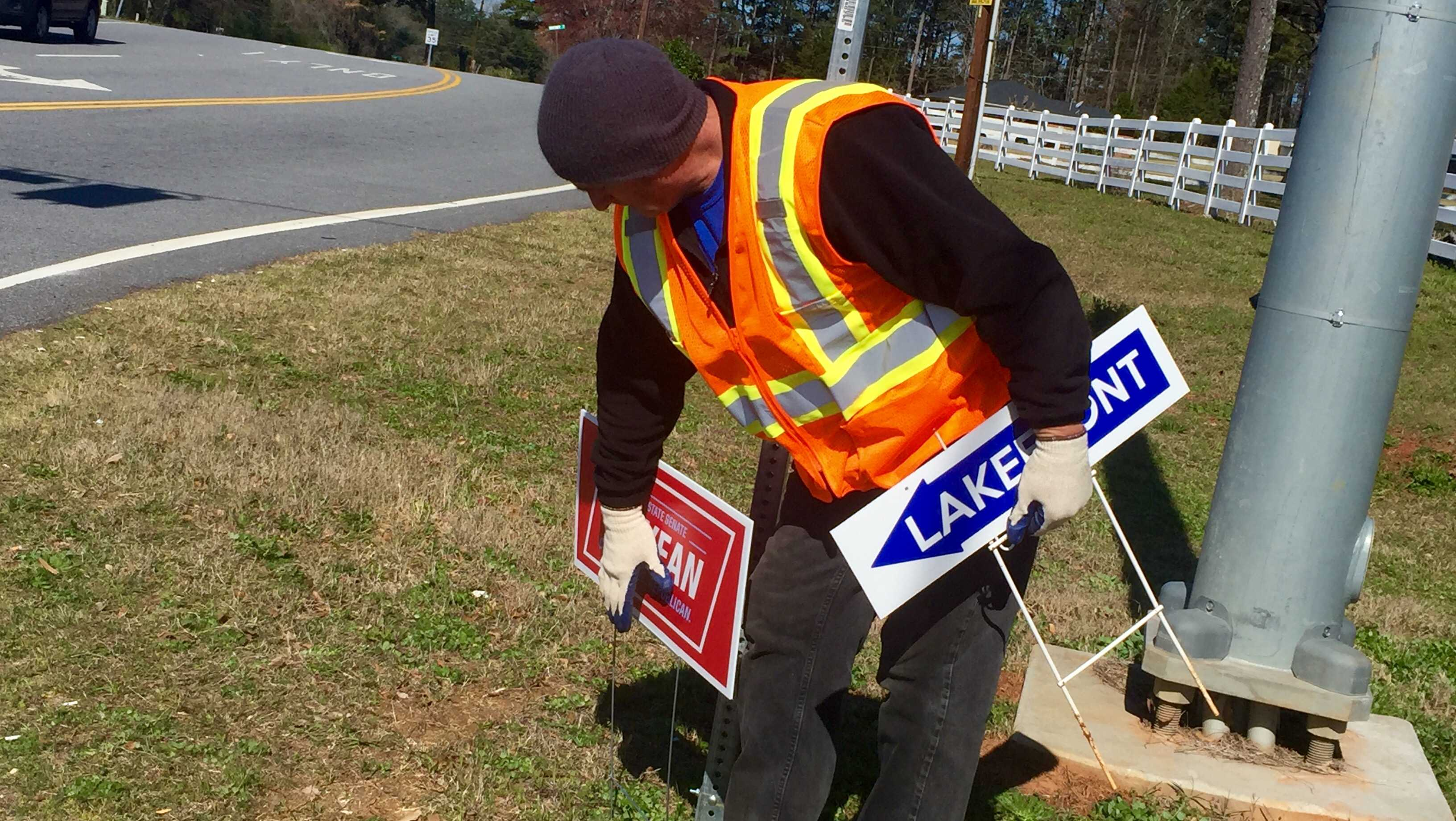 Signs being removed in Anderson County