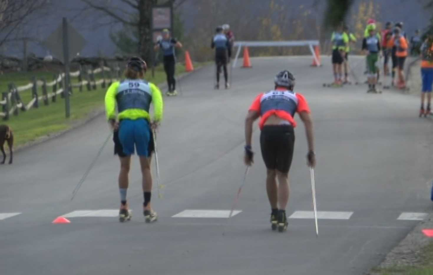 Young cross-country skiers, Olympians go head-to-head in roller ski competition