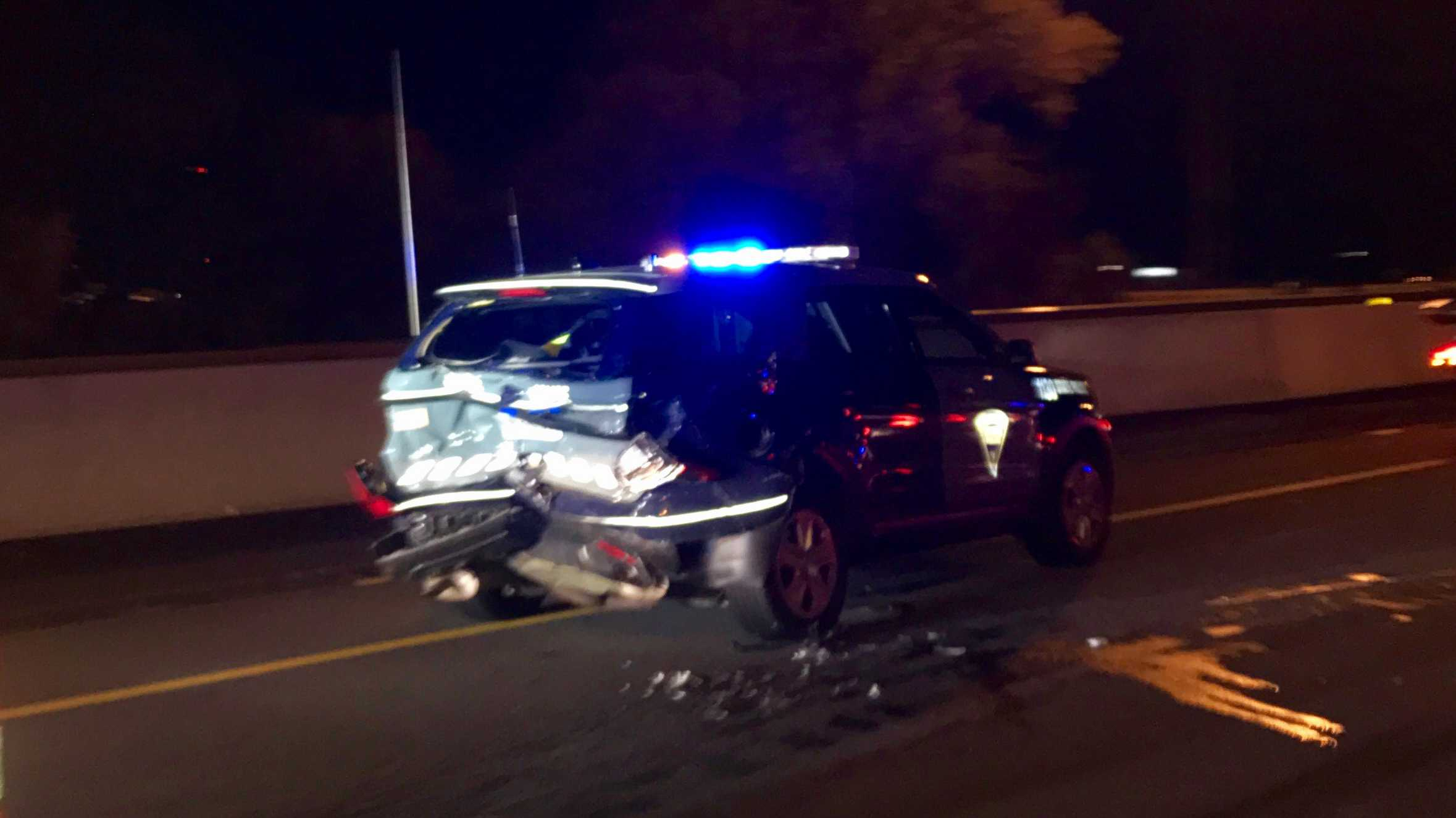 State Trooper Hurt After Accused Drunk Driver Hits Cruiser On I-95