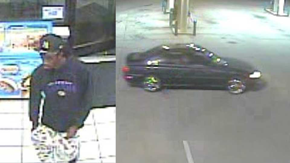Surveillance images of suspected Cruizers groper and suspect vehicle
