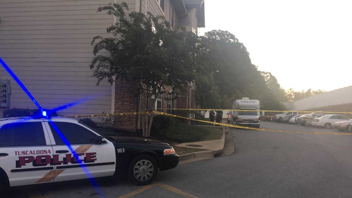 Shooting scene at Boardwalk Apartments in Tuscaloosa