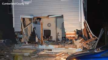 Damaged home in Carlisle
