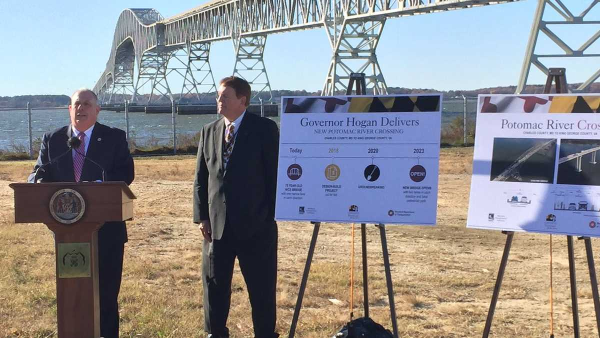 Gov. Larry Hogan announces Potomac River bridge plans