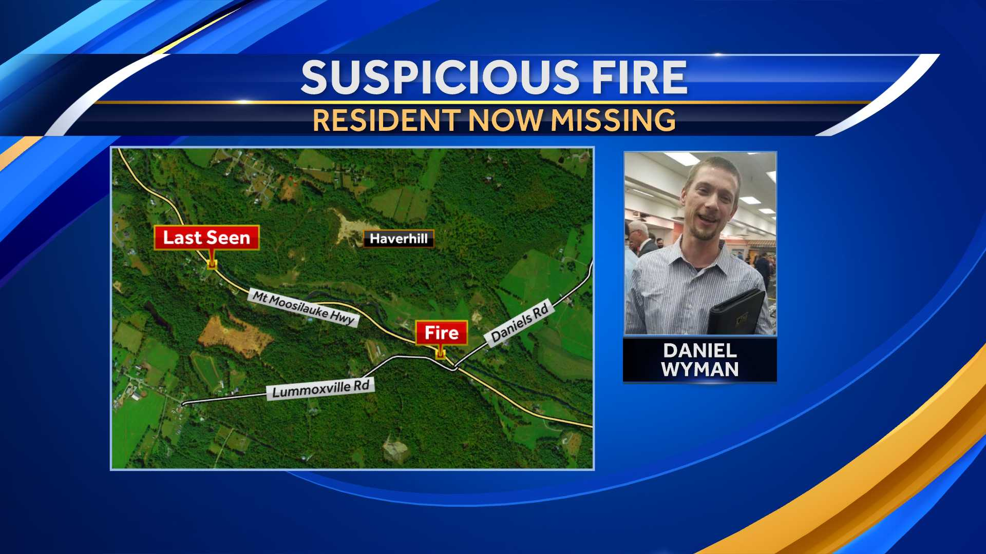 Man missing following suspicious fire, officials say