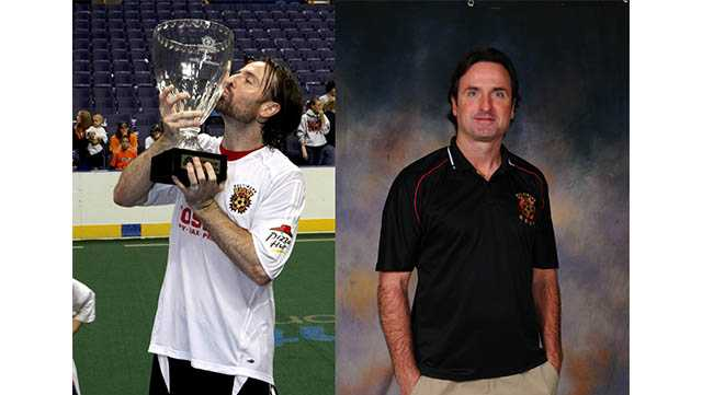 Baltimore Blast coach Danny Kelly is being inducted into the team's hall of fame.