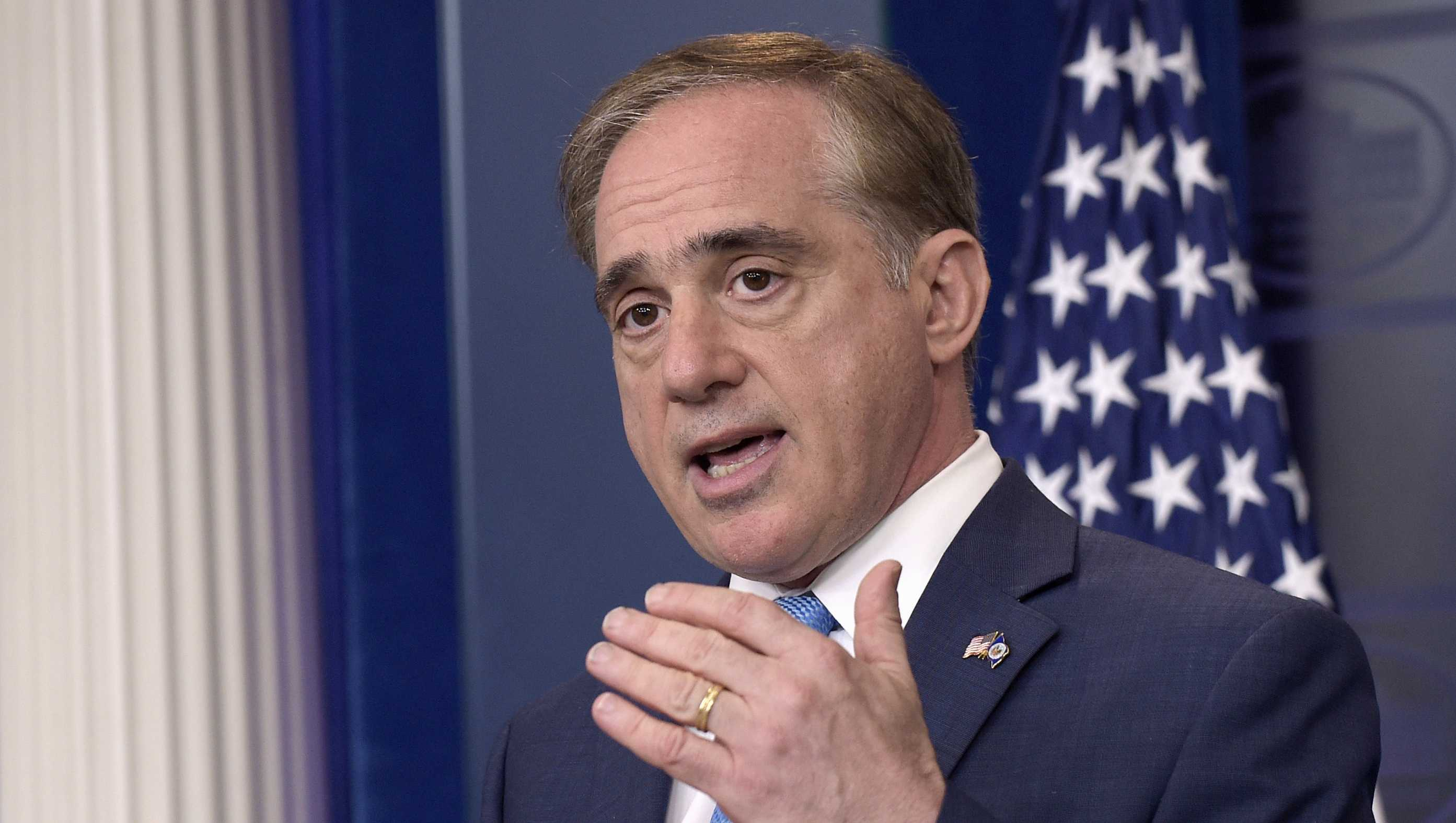 Veterans Affairs Secretary David Shulkin speaks during a briefing at the White House in Washington, Wednesday, May 31, 2017.