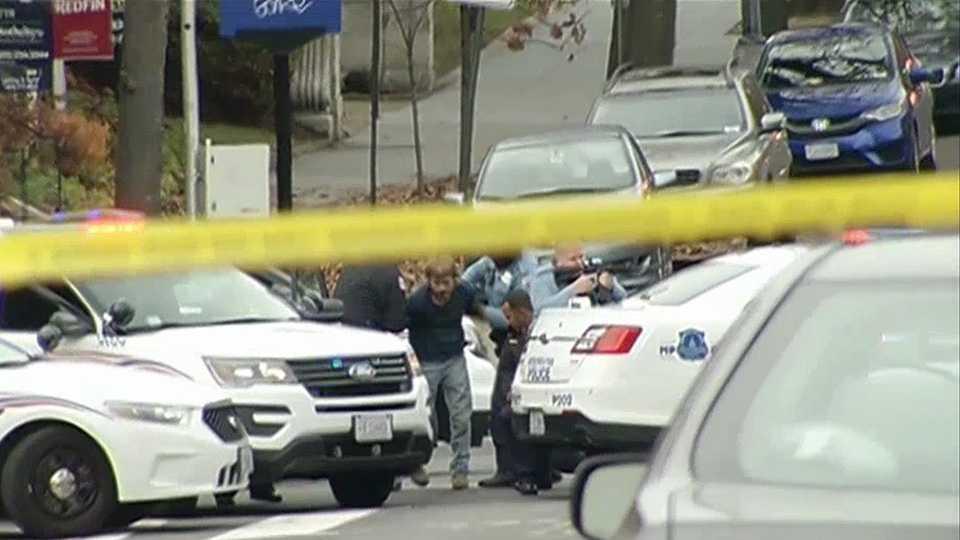 A Salisbury man was taken into custody after police said he fired shots inside a Washington, D.C. pizzeria.
