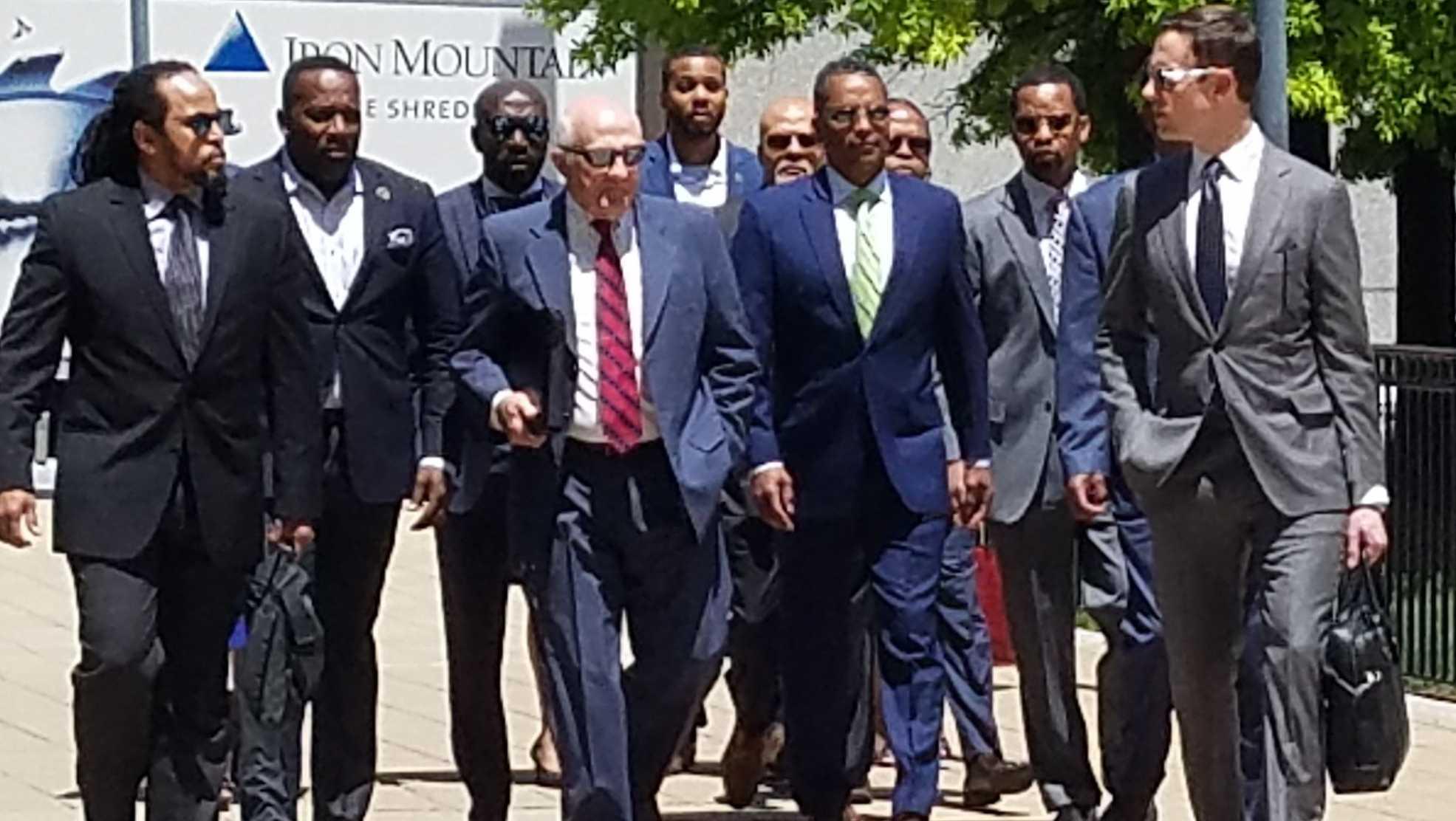 Darryl De Sousa arrives at federal court