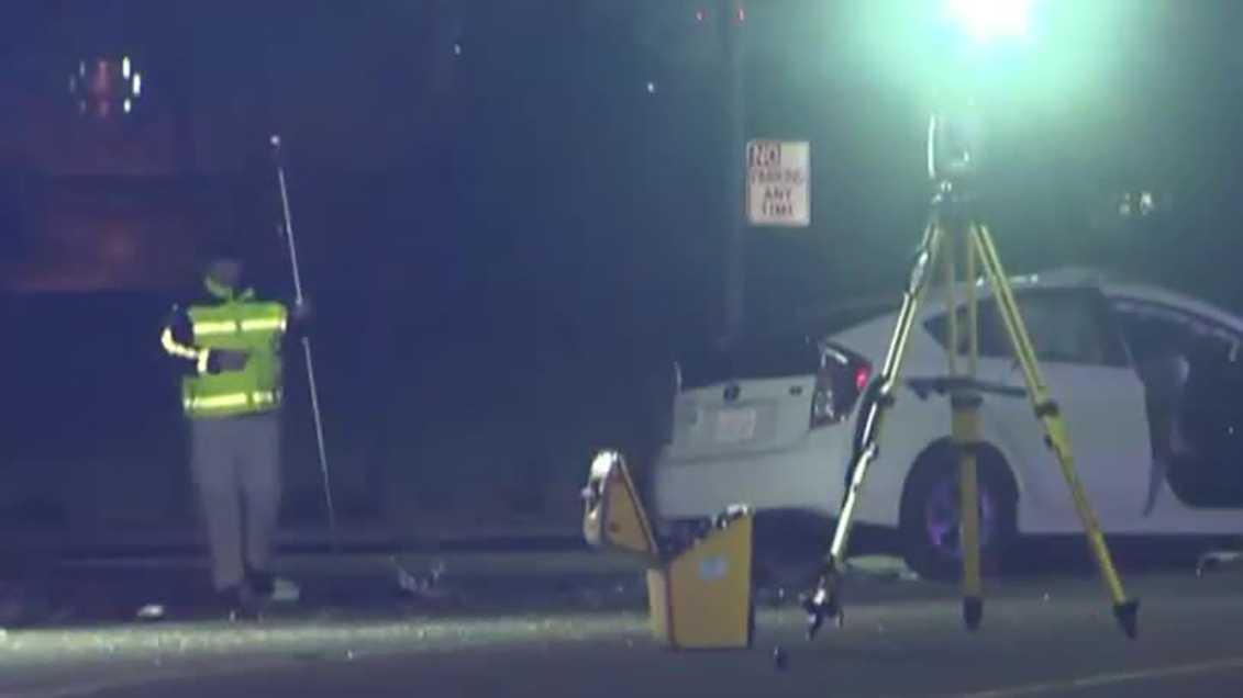 Police investigate a deadly crash on Wednesday, Feb. 1, 2017, in north Sacramento.