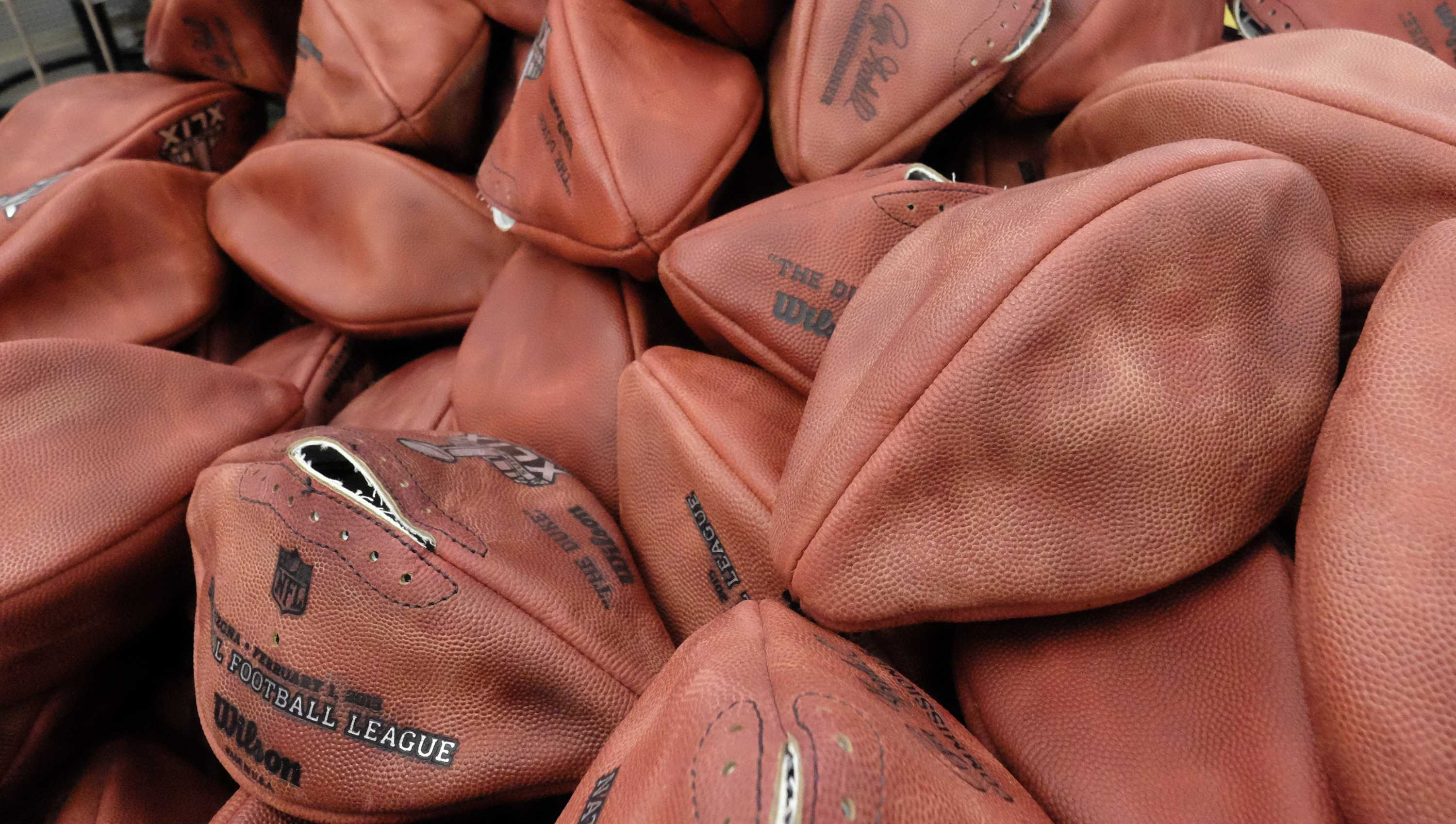 Deflated, underinflated footballs