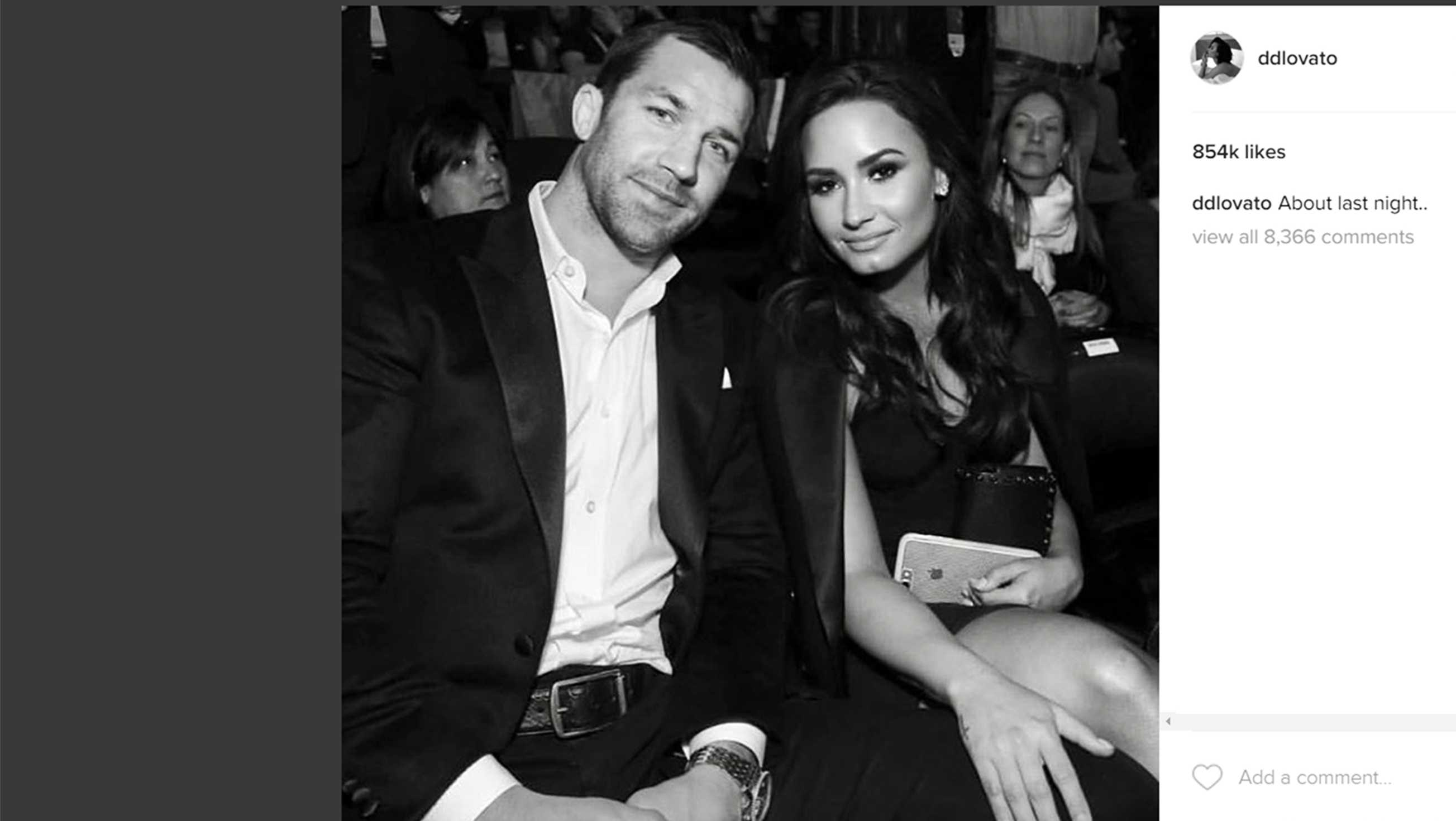 Demi Lovato and her new boyfriend, Luke Rockhold