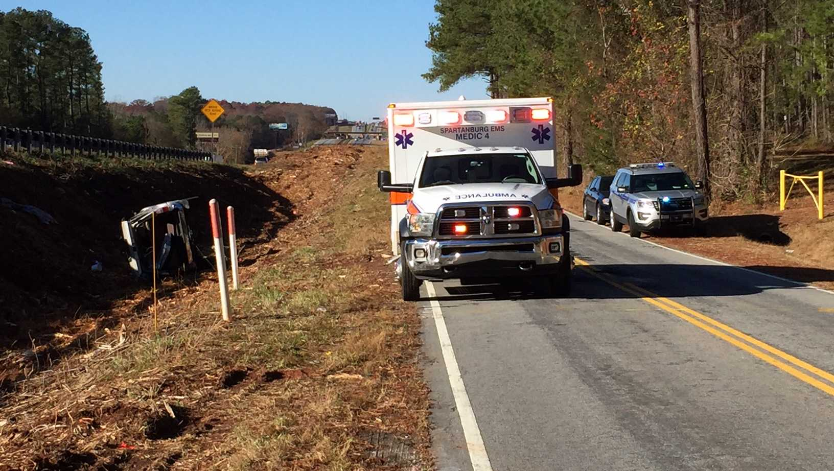 Dewberry Road Spartanburg Co. crash