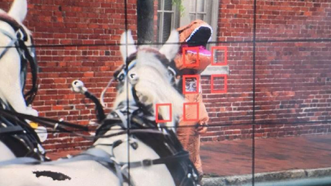 Man in dinosaur costume spooks Charleston carriage horses